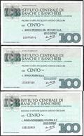 Mini Assegno Istituto Centrale Banche E Banchieri  £ 100 3 Diversi FDS - [10] Scheck Und Mini-Scheck