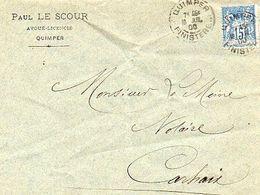 C5   1900 LETTRE Quimper Pour Carhaix - 1877-1920: Semi-Moderne
