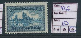 GERMANY YVERT 426 LH - Ungebraucht