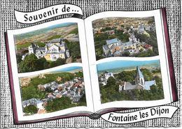 CPSM. 21 FONTAINE LES DIJON. LIVRE SOUVENIR 4 VUES. - France