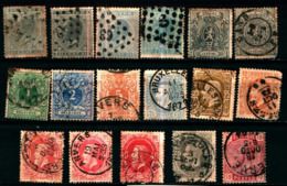 19251B) BELGIO LOTTO DIFRANCOBOLLI USATI - 1849-1850 Medallions (3/5)