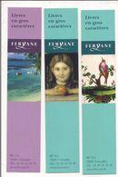 Marque-Pages  -  Lot De 3  -  Editions Feryane  -  Livres En Gros Caractères - Lesezeichen