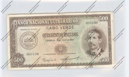 BANKNOTE - CABO VERDE, Pick 50, 500 Escudos, 1958 - Cabo Verde