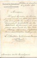 MONACO . CHATEAU DE MARCHAIS . SECRET DES COMMANDEMENTS DU PRINCE . 1883 - Historische Dokumente