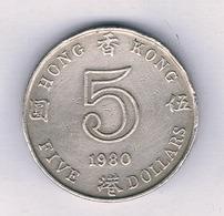 5 DOLLAR 1980 HONGKONG /5221/ - Hongkong