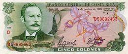 COSTA RICA 5 COLONES 1989 P-236d19   UNC - Costa Rica
