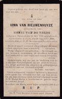 Nazareth, Eke, 1910, Irma Van Nieuwenhuyze, Van De Velde - Images Religieuses