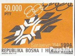 Bosnien-Herzegowina 8 (kompl.Ausg.) Postfrisch 1994 Jahrestag Eröffnung Winterolympiade - Bosnien-Herzegowina