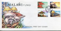 Malawi Mi# 441-4 Used On FDC - Flora Fungi Mushrooms - Malawi (1964-...)