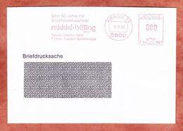 Briefdrucksache, Francotyp-Postalia B24-2521, Middel + Buelling, 80 Pfg, Hagen 1989 (95480) - BRD