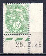 1900 FRANCE 5C. DEFINITIVE MICHEL: 90 MNH ** - 1900-29 Blanc