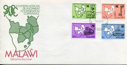Malawi Mi# 445-8 Used On FDC - Development Coop - Malawi (1964-...)