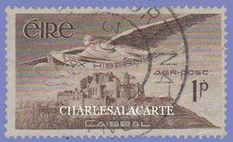 EIRE IRELAND 1948-1965 AIRMAIL STAMP 1p. SEPIA  S.G. 140  FINE USED - Luftpost