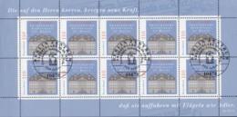 BRD  2011, Kleinbogen, Gestempelt, Franckesche Stiftungen, 1998 - BRD