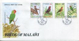 Malawi Mi# 453-6 Used On FDC - Fauna Birds - Malawi (1964-...)