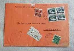 Busta Di Lettera Raccomandata Da Belpasso Per Città 03/12/1946 Affrancatura Mista (R) - 5. 1944-46 Lieutenance & Humbert II: