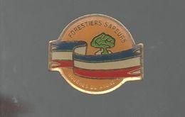 PINS PIN'S  POMPIER SP POMPIERS  BOUCHES DU RHONE  ARBRE FORET FORESTIER SAPEURS - Transportes