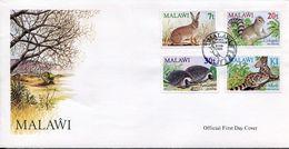 Malawi Mi# 424-7 Used On FDC - Fauna - Malawi (1964-...)