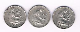 50 PFENNIG  3X  DUITSLAND /5228/ - [ 7] 1949-… : FRG - Fed. Rep. Germany