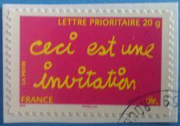"""France 2008  : Timbre De Message """"ceci Est Une Invitation"""" N° 204 Oblitéré - Frankreich"""