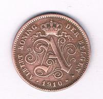 2 CENTIMES 1910  VL    BELGIE /5231/ - 1909-1934: Albert I
