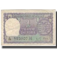 Billet, Inde, 1 Rupee, KM:77q, B - Inde