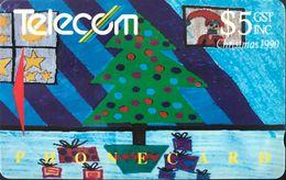 NOUVELLE-ZELANDE  -  Phonecard  - Christmas 1990  -  $ 5 - New Zealand