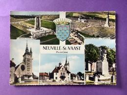 62 CPSM  NEUVILLE-SAINT-VAAST  Multivues    Très Bon état - Autres Communes