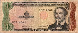 REPUBLICA DOMINICANA 1 PESO ORO 1984   P-126a2    Circ - República Dominicana