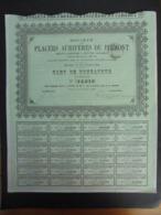 ITALIE - PLACERS AURIFERES DU PIEMONT - PAT DE FONDATEUR - PARIS 1888 - Actions & Titres