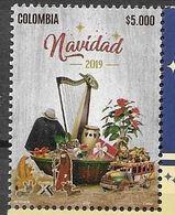 COLOMBIA, 2019, MNH, CHRISTMAS, MUSIC, TRUCKS, 1v - Noël