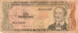 REPUBLICA DOMINICANA 1 PESO ORO 1988   P-126c    Circ - República Dominicana