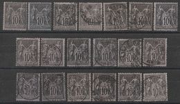 * Lot Timbres France SAGE Type II  N° Yvert 89 De 1877 Oblitérés Cote 38 € - 1876-1898 Sage (Type II)