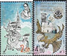 Bosnien - Kroat. Post Mostar 24-25 (kompl.Ausg.) Postfrisch 1995 Alte Städte - Bosnia Erzegovina
