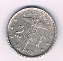 2 FRANC 1923 FR  BELGIE  /5236/ - 1909-1934: Albert I