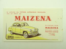 BUVARD MAIZENA SIMCA 4 PLACES 7 CHEVAUX VOITURES AUTOMOBILES FRANCAISES - Automóviles