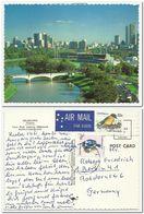 Melbourne Yarra River Bridge  ,  Birds Used Air Mail - Melbourne