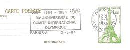 1984 90 éme Anniversaire Du Comité International Olympique à Paris - Olympic Games