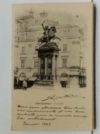 63 - CLERMONT FERRAND - VERCINGETORIX (PAR BARTHOLDI) - SIGNÉE ET ÉCRIT PAR BARTHOLDI - DOS SIMPLE - 1903 - Autogramme & Autographen