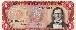 DOMINICAN REPUBLIC  5 PESOS ORO 1988 P-118  Aunc - República Dominicana