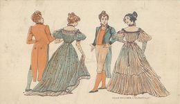 Danse  Quadrille     Illustrateur   Au Dos  Pub Chocolat DEVINCK - Autres Illustrateurs