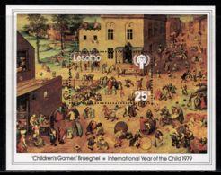 Lesotho 1979 Mi# Block 4 ** MNH - Children's Games, By Brueghel The Elder - Lesotho (1966-...)