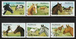 Philippines 1985 Mi# 1670-1675 Used - Horses - Filipinas