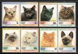Tuvalu - Nanumea 1985 Mi# 45-52 ** MNH - 4 Pairs - Cats - Tuvalu