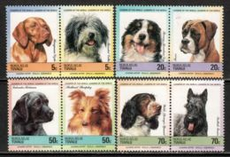 Tuvalu - Nukulaelae 1985 Mi# 33-40 ** MNH - 4 Pairs - Dogs - Tuvalu