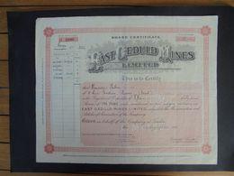 GRANDE BRETAGNE - LONDRES 1949 - EAST CEDULD MINES - CERTIFICAT DE 15 ACTIONS DE ONE POUND - Actions & Titres