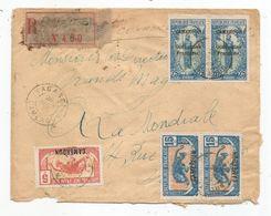 - CAMEROUN - YABASSI- Càd S/paire Du TP N°74 + Un TP N°85 +  Paire N°89- RECOMMANDEE  - 1925 - Camerun (1915-1959)