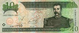 DOMINICAN REPUBLIC  10 PESOS ORO 2002 P-168 Xf - República Dominicana