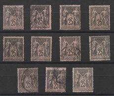 * Lot Timbres France Classiques SAGE Type II  N° Yvert 97 De 1886 Oblitérés Cote 22 € - 1876-1898 Sage (Type II)