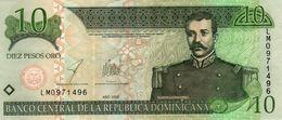 DOMINICAN REPUBLIC  10 PESOS ORO 2003 P-168c   Aunc - República Dominicana